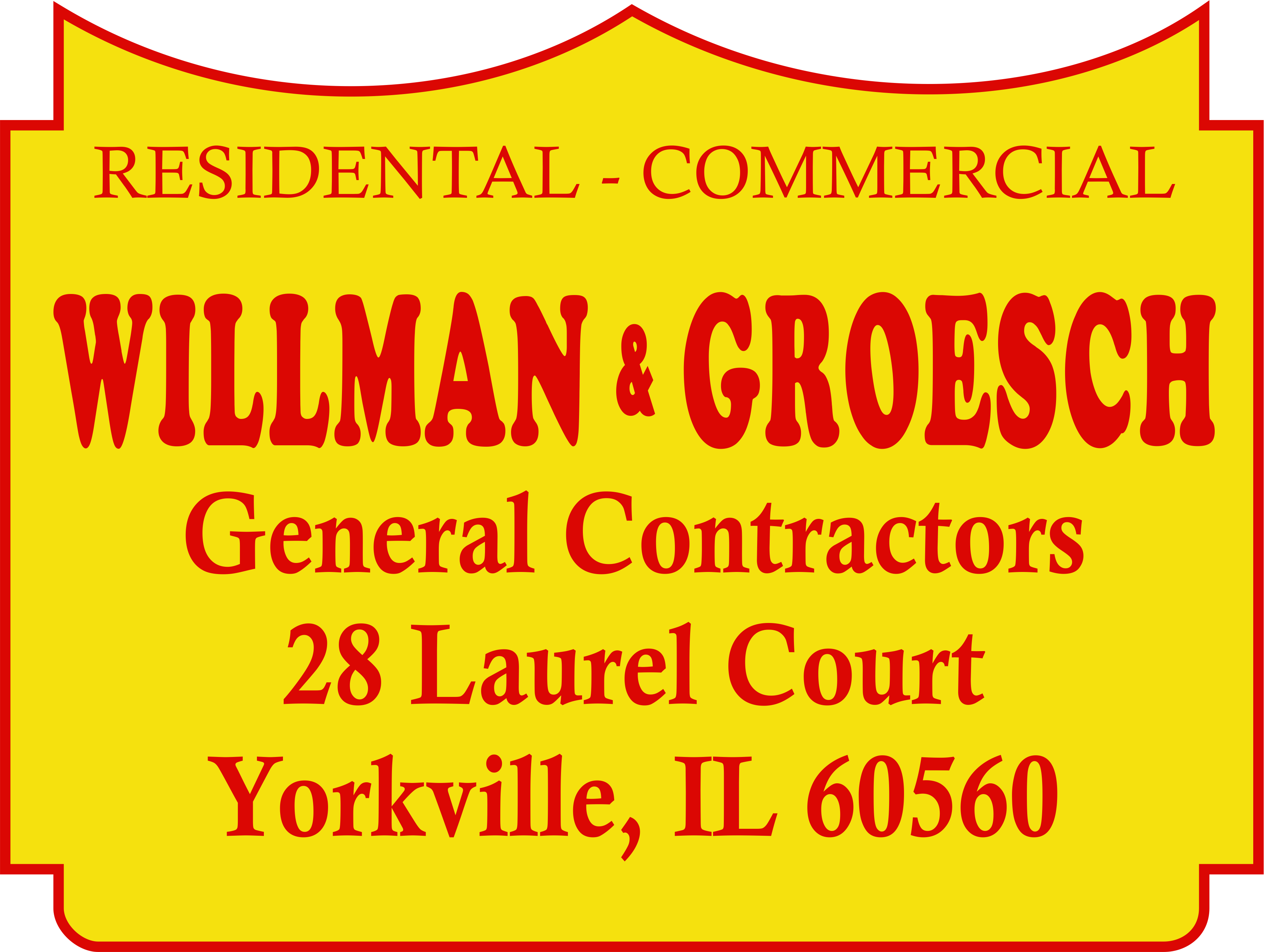 Willman & Groesch General Contractors Logo